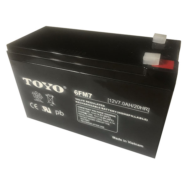 Toyo 6FM7 12V 7Ah SLA Sealed Lead Acid Battery F1 Terminals